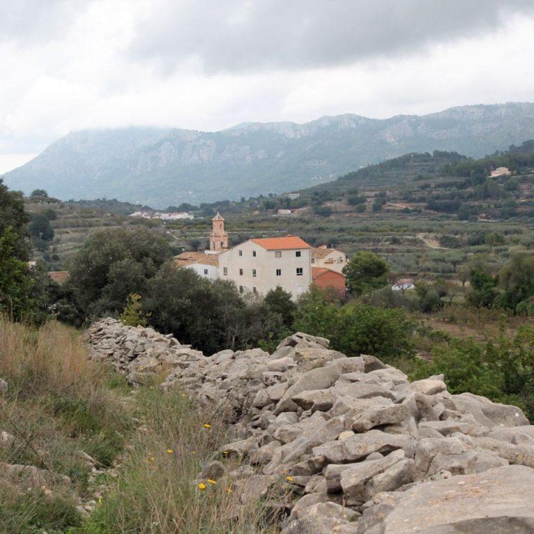 Vista del pueblo La Vall de Gallinera caferminet.es